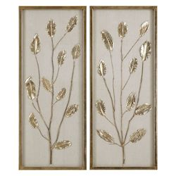 Uttermost Uttermost Branching Out Gold Leaf Panels Set/2