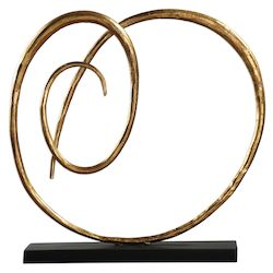 Uttermost Oma Twisted Gold Sculpture