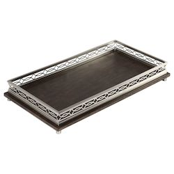 Uttermost Gualtiero Nickel & Wood Tray