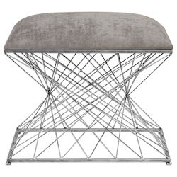 Uttermost Uttermost Zelia Silver Accent Stool