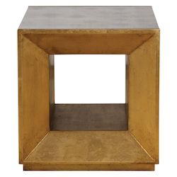 Uttermost Uttermost Flair Gold Cube Table