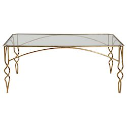 Uttermost Uttermost Lora Gold Coffee Table