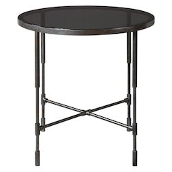 Uttermost 24783 Uttermost Vande Aged Steel Accent Table