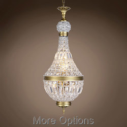 19Th C. French Empire Crystal 6 Light 14