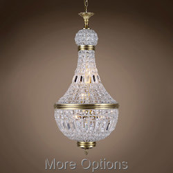 19Th C. French Empire Crystal 6 Light 18