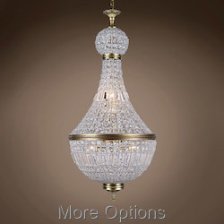 19Th C. French Empire Crystal 8 Light 21