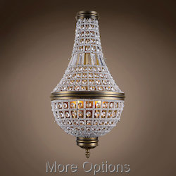 19Th C. French Empire Crystal 3 Light 14