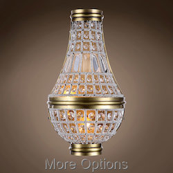 19Th C. French Empire Crystal 2 Light 10