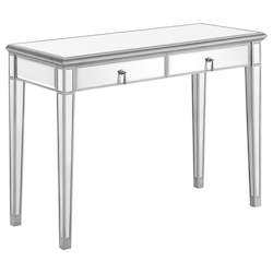 Elegant Decor MF6-1006S Vanity Table 42 In. X 18 In. X 31 In. In Silver Paint