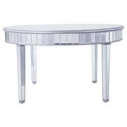 Elegant Decor MF6-1037S Round Table D60 In. In Silver Paint
