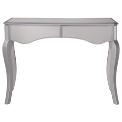 Elegant Decor MF6-1043S 2 Drawers Dressing Table 42 In. X 18 In. X 31 In. In Silver Paint