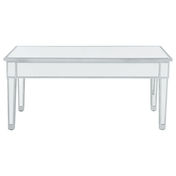 Elegant Decor MF72021 Coffee Table 40In. W X 20In. D X 18In. H In Antique Silver Paint