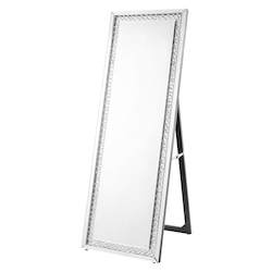 Elegant Decor MR9123 Sparkle 63 In. Contemporary Standing Full Length Mirror In Clear
