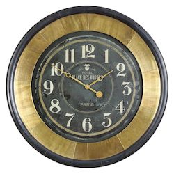 Uttermost Uttermost Lannaster Black & Gold Wall Clock