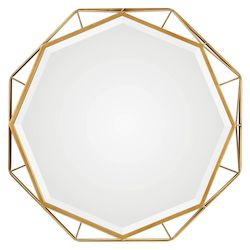 Uttermost Uttermost Mekhi Antiqued Gold Mirror