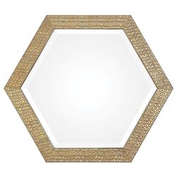Uttermost Uttermost Hanisha Honeycomb Gold Mirror