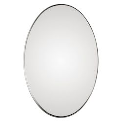 Uttermost Uttermost Pursley Brushed Nickel Oval Mirror