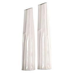 Uttermost Uttermost Kenley Crackled White Vases S/2