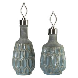 Uttermost Uttermost Arpana Blue And Gray Bottles S/2