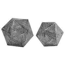 Uttermost Uttermost Kimora Aged Icosahedrons S/2