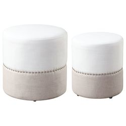 Uttermost Tilda Two-Toned Nesting Ottomans S/2