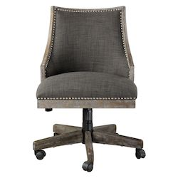 Uttermost Aidrian Charcoal Desk Chair