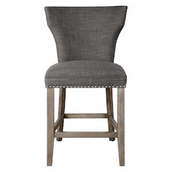 Uttermost 23433 Uttermost Arnaud Charcoal Counter Stool