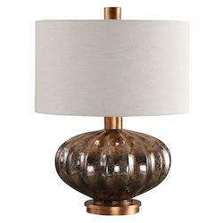 Uttermost Uttermost Dragley Bronze Mercury Glass Lamp