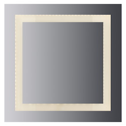 Led Lighted Mirror Inset Style Frosted Glass. 36In.H X 36In.W. Cri: 80