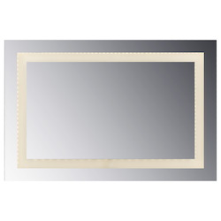 Led Lighted Mirror Inset Style Frosted Glass. 48In.H X 36In.W. Cri: 80