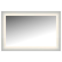 Led Lighted Mirror Wall Glowed Style Frosted Glass. 36In.H X 24In.W. Cri: 81