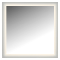 Led Lighted Mirror Wall Glowed Style Frosted Glass. 36In.H X 36In.W. Cri: 81