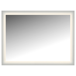 Led Lighted Mirror Wall Glowed Style Frosted Glass. 48In.H X 36In.W. Cri: 81