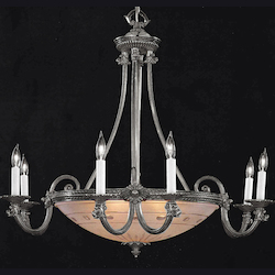 Crystorama 9006-PW Crystorama 9 Light Pewter Chandelier