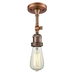 Innovations Lighting Bare Bulb Semi-Flush With Swivel