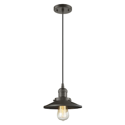 Innovations Lighting Metal Shade Pendant With 10 Feet Cord