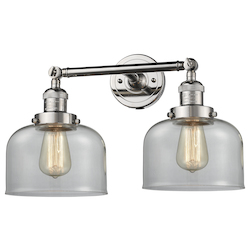 Innovations Lighting Glass 2 Light Adjustable Wall Sconce Up Or Down