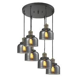 Innovations Lighting 6 Light Adjustable Cord Pan Chandelier With Glass