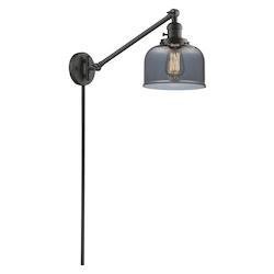Innovations Lighting Glass Adjustable Single Swing Arm Portable Wall Sconce