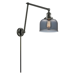 Innovations Lighting Glass Adjustable Double Swing Arm Portable Wall Sconce