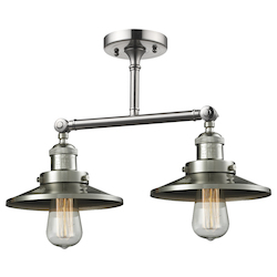 Innovations Lighting Metal 2 Light Adjustable Ceiling Mount