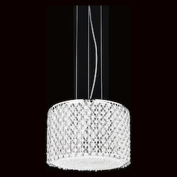 Crystal World 6 Light Down Chandelier With Chrome Finish