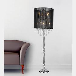 Crystal World 8 Light Floor Lamp With Chrome Finish