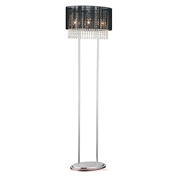 Crystal World 3 Light Floor Lamp With Chrome Finish