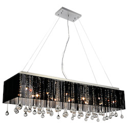 Crystal World 14 Light Drum Shade Chandelier With Chrome Finish