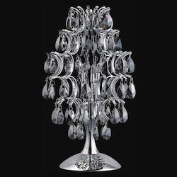 Crystal World 3 Light Table Lamp With Chrome Finish