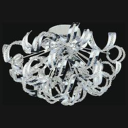 Crystal World 13 Light  Flush Mount With Chrome Finish