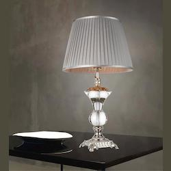 Crystal World 1 Light Table Lamp With Silver Finish