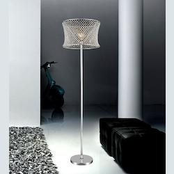 Crystal World 1 Light Floor Lamp With Chrome Finish