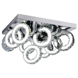 Crystal World Led  Flush Mount With Chrome Finish